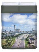 San Antonio City View -color Canvas Print Duvet Cover