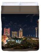 San Antonio Cityscape At Night Duvet Cover