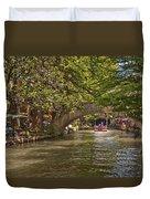 San Antonio Riverwalk Duvet Cover by Steven Sparks
