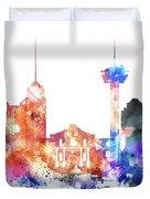 San Antonio Skyline Duvet Cover