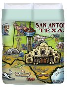 San Antonio Texas Duvet Cover