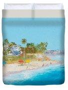 San Clemente Beach Duvet Cover