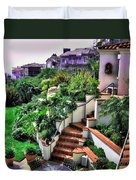 San Clemente Estate Backyard Duvet Cover