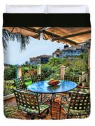 San Clemente Estate Patio Duvet Cover