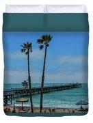 San Clemente Peir Duvet Cover