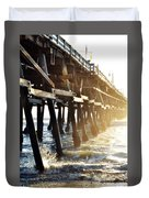San Clemente Pier Magic Hour Duvet Cover