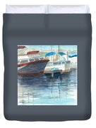 San Diego Mission Bay Duvet Cover