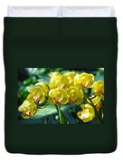 San Diego Yellow Orchids Duvet Cover