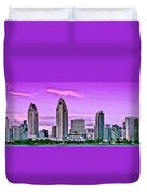 San Diego Panorama Duvet Cover
