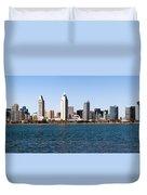 San Diego Panorama Duvet Cover by Paul Velgos