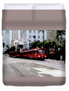 San Diego Red Trolley Duvet Cover