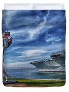 San Diego Sailor Duvet Cover