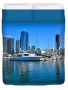 San Diego South Park Marina Duvet Cover
