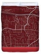 San Diego State Street Map - San Diego State University San Dieg Duvet Cover
