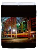 San Diego Trolley Station Duvet Cover