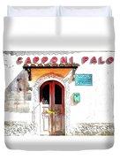 San Felice Circeo Door Of The School Duvet Cover
