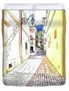 San Felice Circeo Street Duvet Cover