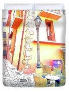 San Felice Circeo Strret Lamp Duvet Cover