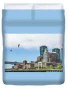 San Francisco Waterfront Duvet Cover