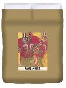 San Francisco 49ers Vintage Program 2 Duvet Cover