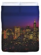 San Francisco At Sunset Duvet Cover