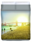 San Francisco Baker Beach Duvet Cover