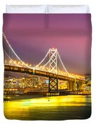 San Francisco - Bay Bridge Duvet Cover