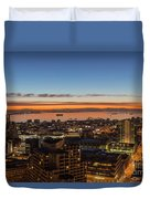 San Francisco Bay Early Morning Glow  Duvet Cover