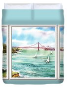 San Francisco Bay View Window Duvet Cover
