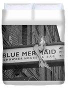 San Francisco Blue Mermaid Bw Duvet Cover