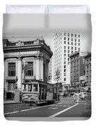 San Francisco Cable Car During Wwii Duvet Cover