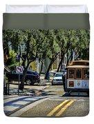 San Francisco, Cable Cars -1 Duvet Cover
