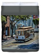 San Francisco, Cable Cars -2 Duvet Cover