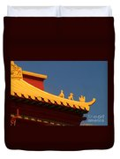 San Francisco California China Town Duvet Cover