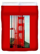 San Francisco Golden Gate Bridge Symphony In California Duvet Cover
