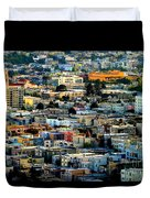 San Francisco California Scenic  Rooftop Landscape Duvet Cover