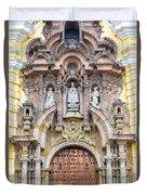 San Francisco Convent Facade Duvet Cover