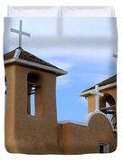 San Francisco De Asis Mission Bell Towers Duvet Cover