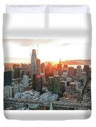 San Francisco Financial District Skyline Duvet Cover