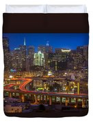 San Francisco From Potrero Hill Duvet Cover by Inge Johnsson