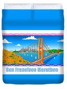 San Francisco Marathon Panorama Duvet Cover