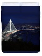 San Francisco Oakland Bay Bridge Duvet Cover