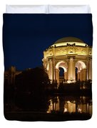 San Francisco Palace Of Fine Arts At Night Duvet Cover
