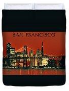 San Francisco Poster Duvet Cover