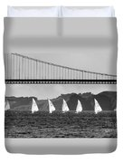 San Francisco Seascape Duvet Cover