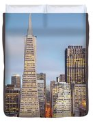 San Francisco Skyline 2 Duvet Cover