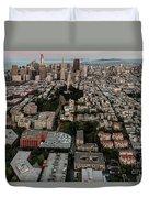 San Francisco Skyline And Coit Towersan Francisco Skyline And Coit Tower Duvet Cover