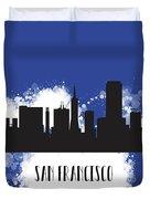 San Francisco Skyline Silhouette Duvet Cover