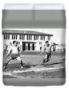 San Francisco Soccer Match Duvet Cover