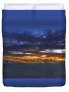 San Francisco Sunset Duvet Cover